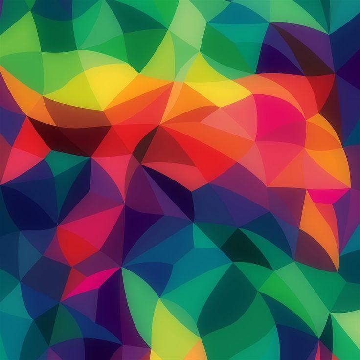 Rainbow Abstract Colors Pastel Dark Pattern #retina #iPad