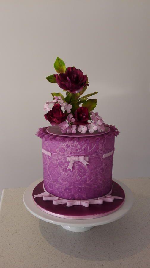 Deep purple roses ...  - Cake by Bistra Dean
