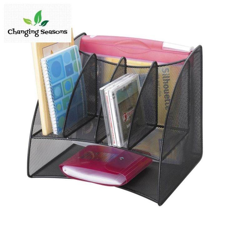 Desktop Corner Organizer Multiple Compartments Letter Trays Holder Storage  #SafcoProducts