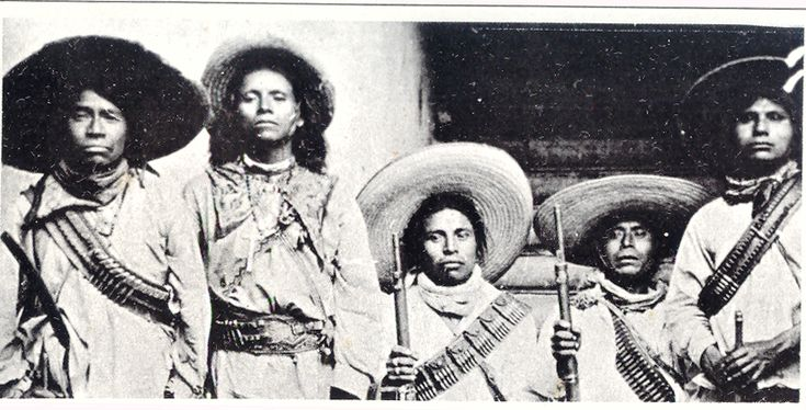 Huichol Warriors during the Cristiada, 1925, subject of a corrido - see http://www.laits.utexas.edu/jaime/cwp5/crg/english/intro/index.html#