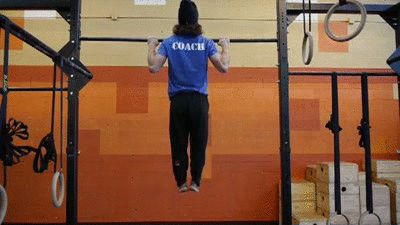 """Step one to mastering your first pull-up? """"Negative"""" or """"Eccentric"""" pull-ups. Try these!"""