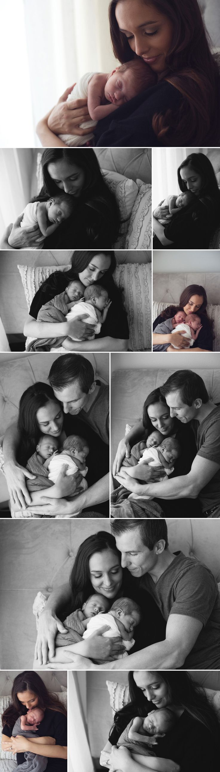 newborn baby love the picture with the mom and twins on her chest