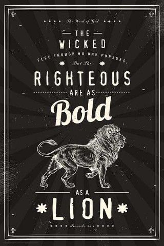 christian poster - BOLD AS A LION