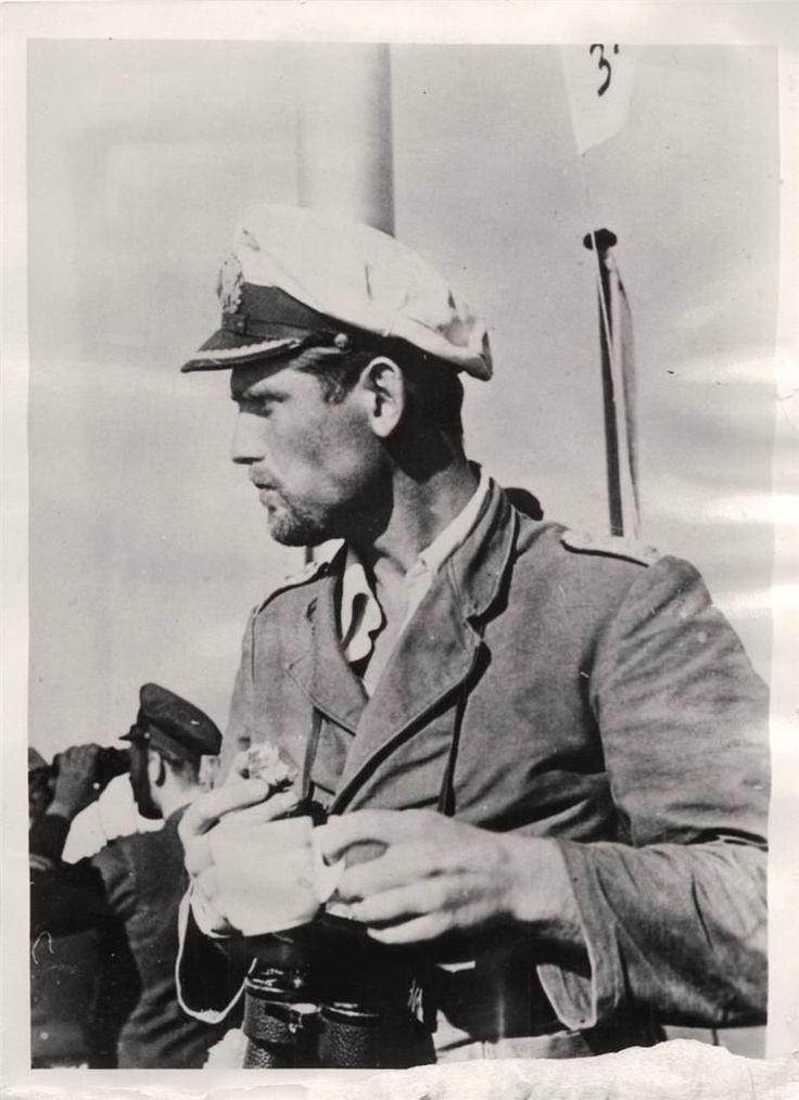 1941- German U-Boat hero Lieutenant-Commander Joachim Schepke. Seventh recipient of the Knight's Cross of the Iron Cross with Oak Leaves