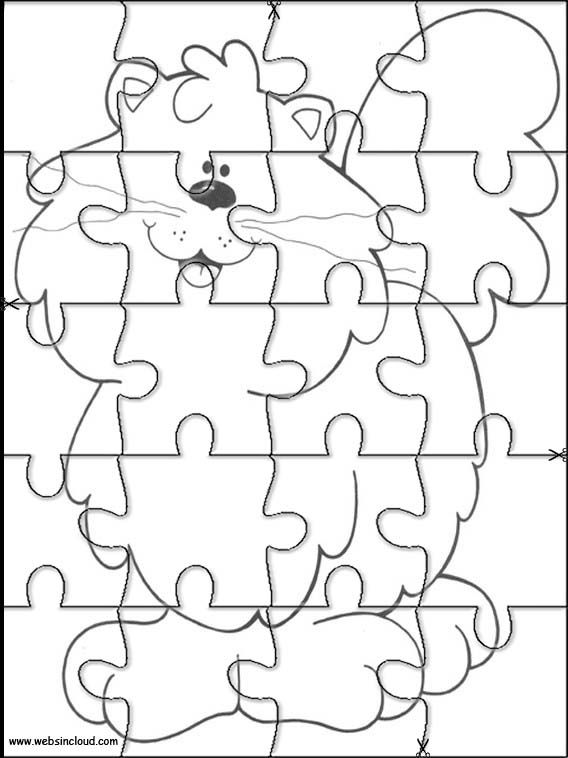 Printable jigsaw puzzles to cut out for kids Animals 282 Coloring Pages