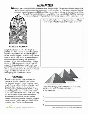 all about mummies reading worksheetsschool - Free Halloween Reading Comprehension Worksheets