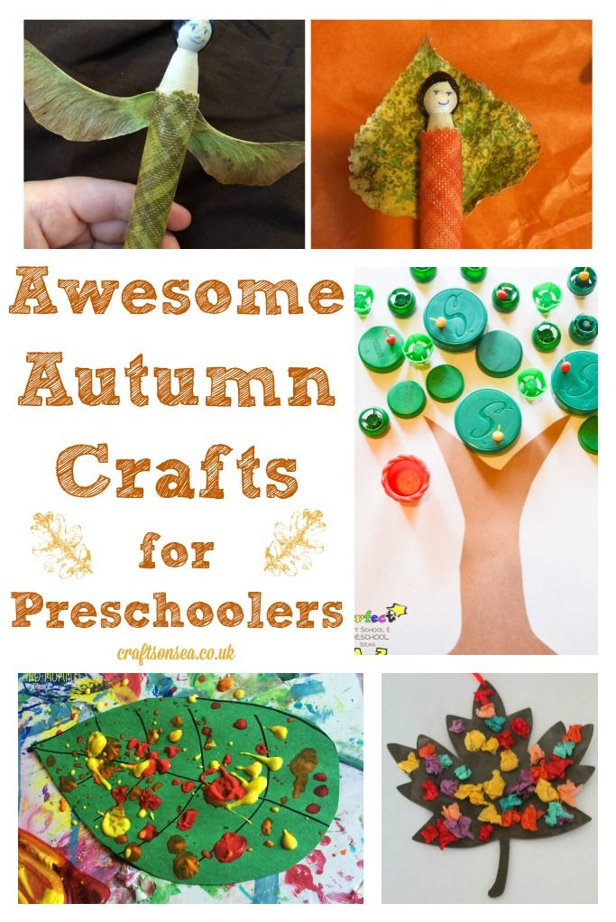 Autumn Crafts for Preschoolers: Pintorials - Crafts on Sea