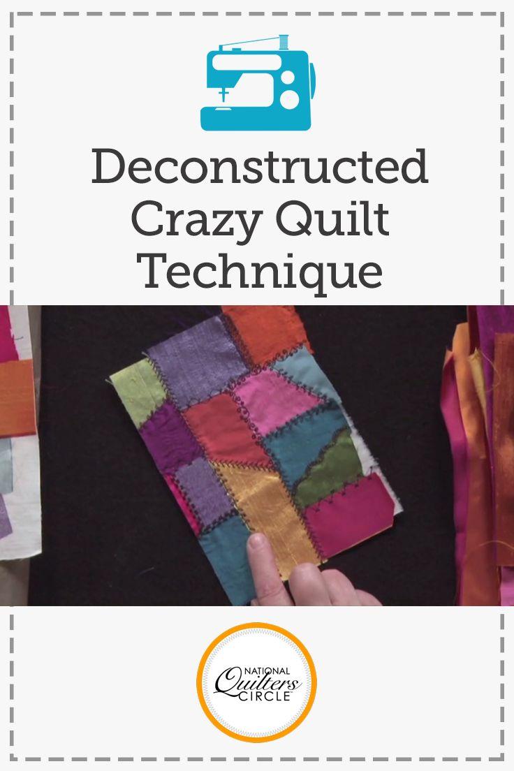 Deconstructed Crazy Quilt Technique