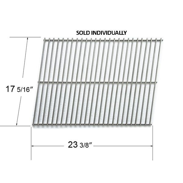 STAINLESS STEEL COOKING GRID COMPATIBLE WITH WEBER, KALAMAZOO, KENMORE, KMART AND NEXGRILL GAS GRILL MODEL  Fits Weber Model:  1100, 4421411, 900, Genesis 1000, Genesis 2000, Genesis 3500, Genesis Gold B 2002, Genesis Gold B Pre-2002, Genesis Gold C 200,2 Genesis Gold C Pre-2002, Genesis IV, Genesis Platinum B, Genesis Platinum C, Genesis Silver B, Genesis Silver C, Platinum B 2005, Platinum B Pre-2005, Platinum C 2005, Platinum C Pre-2005, Spirit 700, Spirit E-310, Spirit E-320, Spirit…