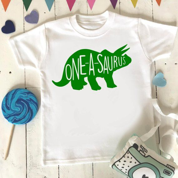 0ff047f2 Oneasaurus Birthday Shirt One Year Old Dino Birthday Shirt 1 Year Old  Birthday - I'm 1 Kids' Shirts -1st Birthday Party I'm 1 T-Shirt