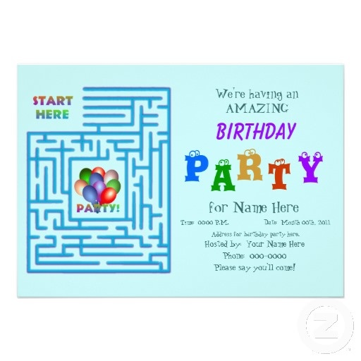 Amazing Birthday Party Personalized Invitation
