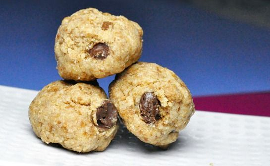 Cookie dough balls for one