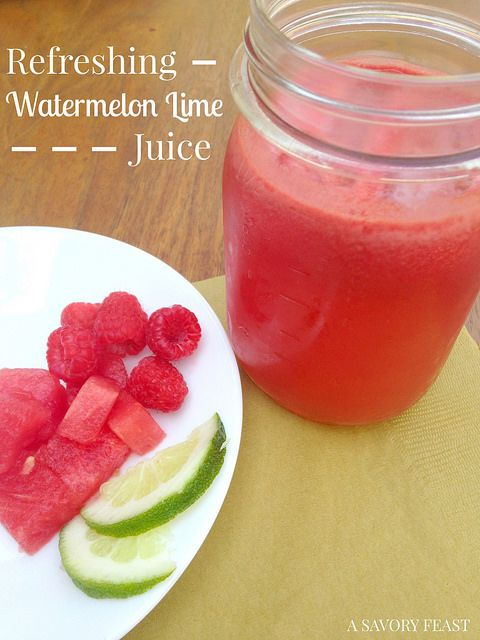 Curious about juicing, but hesitant to try the all the green juices? Refreshing Watermelon Lime Juice is great for beginners.