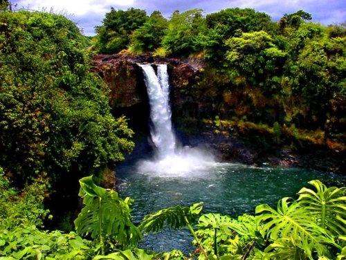 Pe'epe'e Falls, Big Island of HawaiiHilo Hawaii, Buckets Lists, Favorite Places, Fall Rainbows, Pe Epee Fall, Places I D, Rainbows Fall, Big Islands, Nice Rainbows