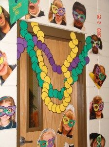 make pictures of your students' faces at the beginning of the year, print out, mat on cardstock, laminate, and use in various decorations throughout the year.