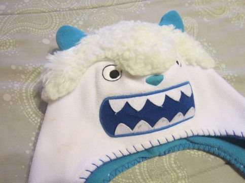 Old Navy brand Snow Monster Beanie   Abominable snow man winter hat beanie