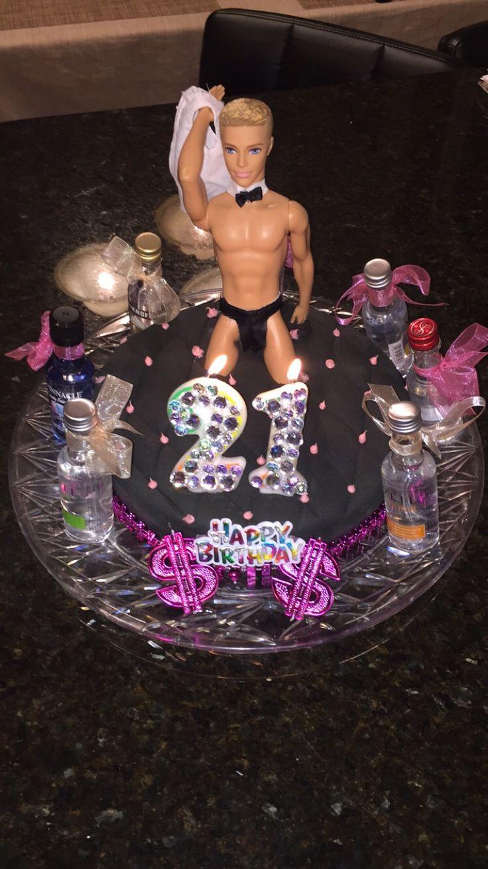 21st Birthday Cake Idea for girls