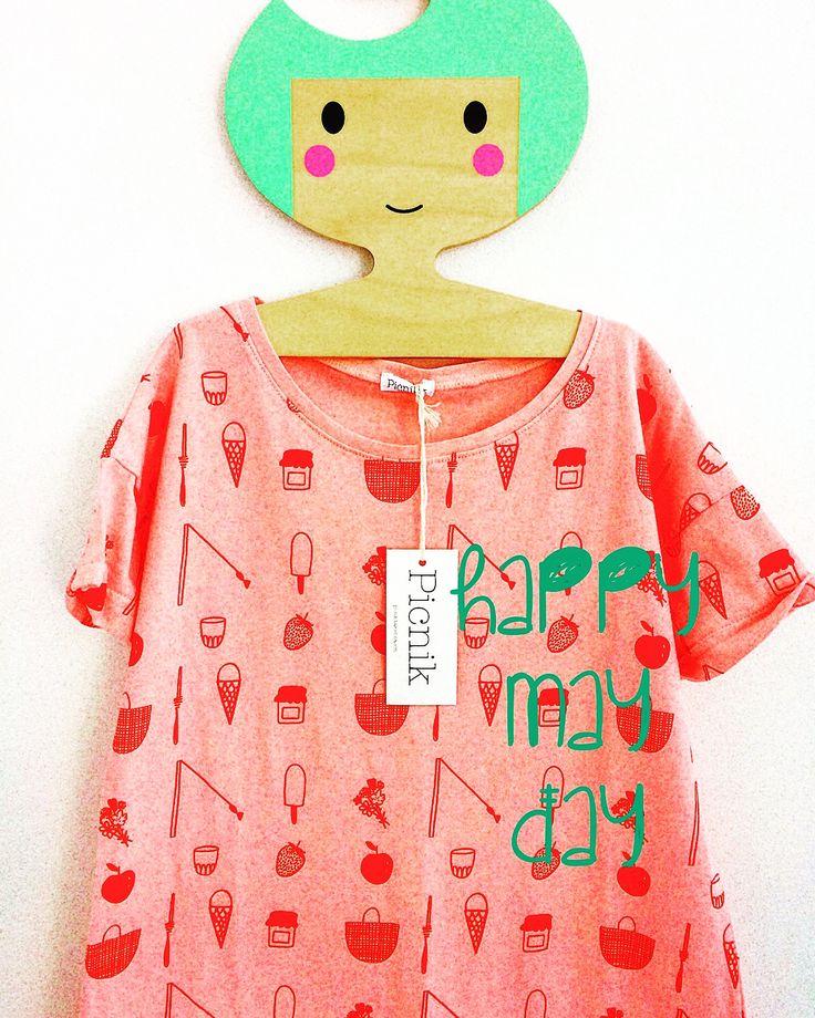 T-dress with spring spirit//  Φορεματακι σε ροζ χρώμα για κορίτσια με ανοιξιάτικη διάθεση!!  Παιδικά ρουχα www.heladoderretido.com