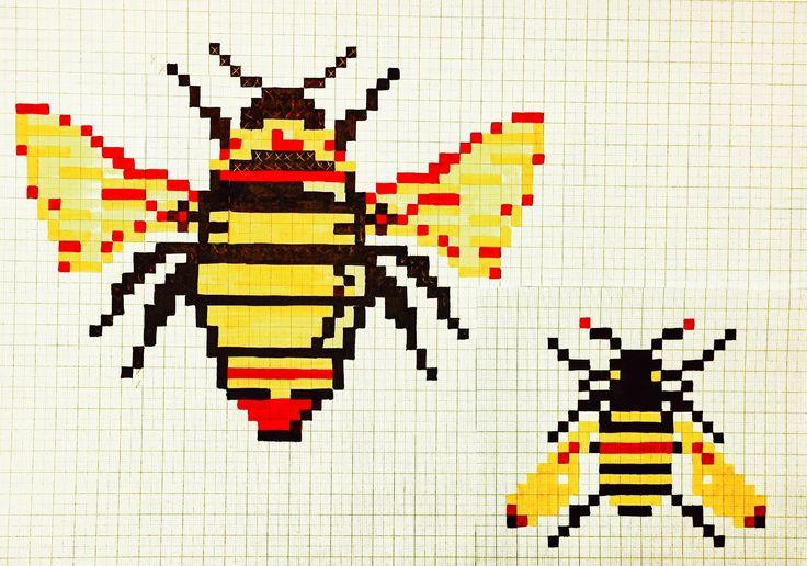 Pixel Bees by Lizzie Reakes