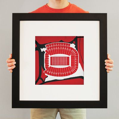 Sanford Stadium | College football prints from City Prints put you back in the stands on Saturdays. City Prints look like modern art and remind you of the unforgettable moments you experienced in your favorite seats
