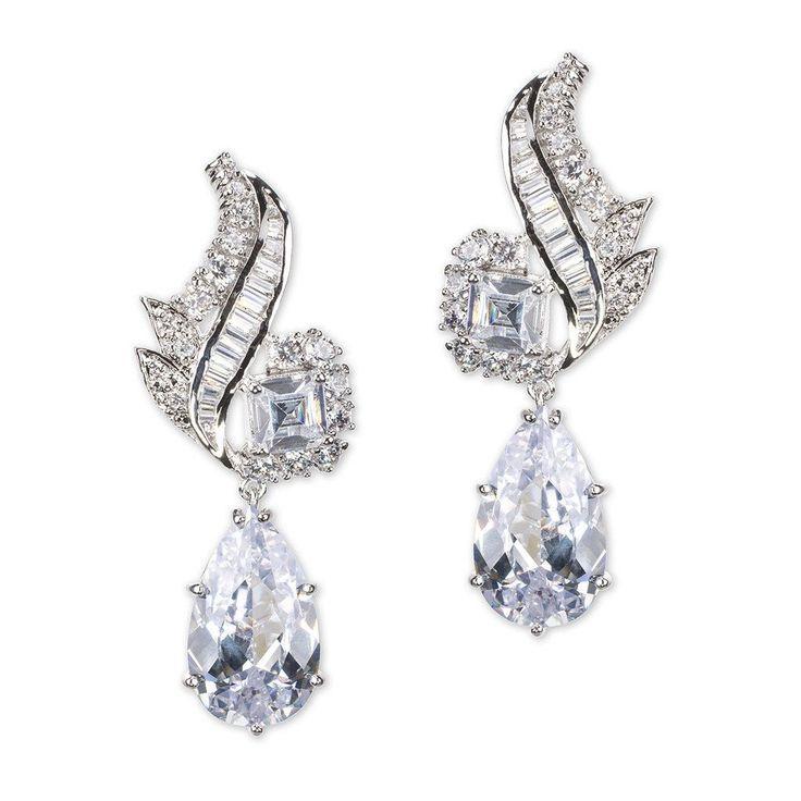 Pear Drop Pierced Earring