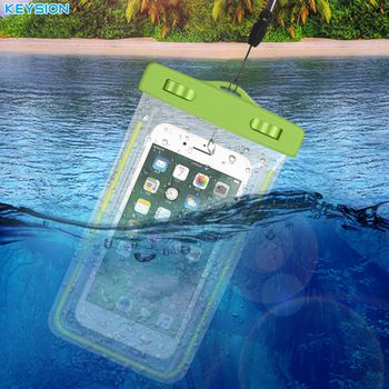 KEYSION Waterproof Bag With Luminous Underwater Pouch Phone Case For iPhone X 8 8 Plus 7 7P 6 6s  For Samsung Galaxy S8 S7 Note8  Price: 4.11 USD