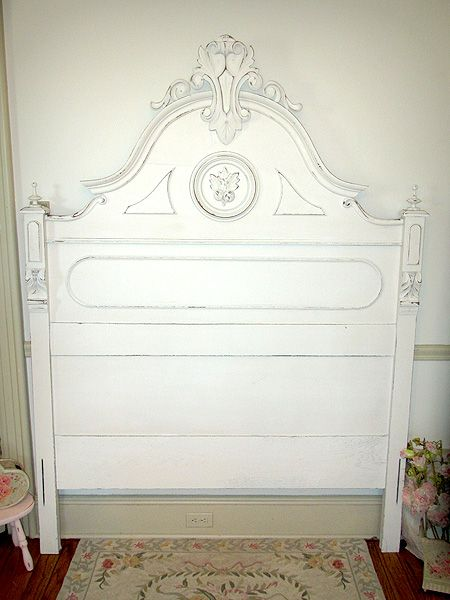Victorian White Full Size Headboard