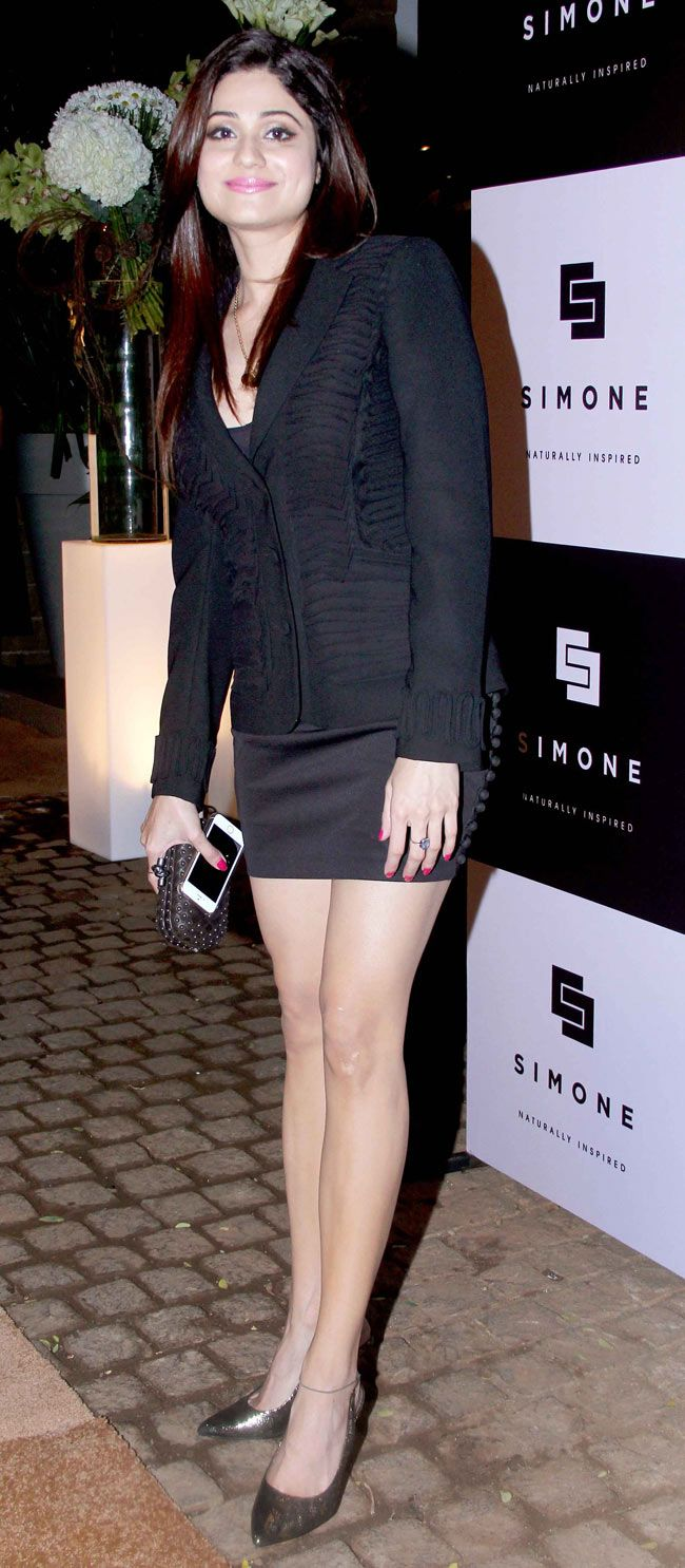 Shamita Shetty at Simone Khan's store launch. #Bollywood #Fashion #Style #Beauty