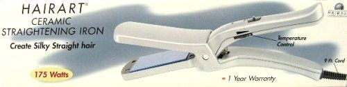 Hairart D20 Ceramic Straightening Iron 175 Watts *** Details can be found by clicking on the image.