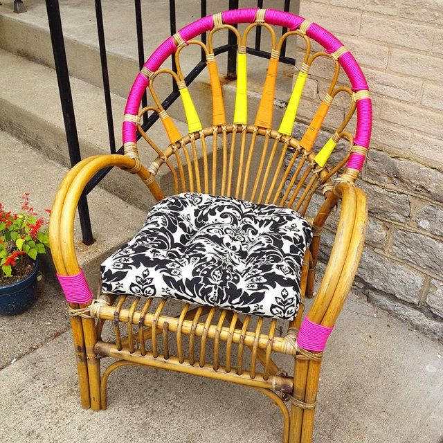 fauteuil en rotin color - Fauteuil Colore