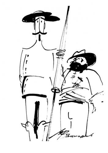 Ilustración de Miguel de Cervantes