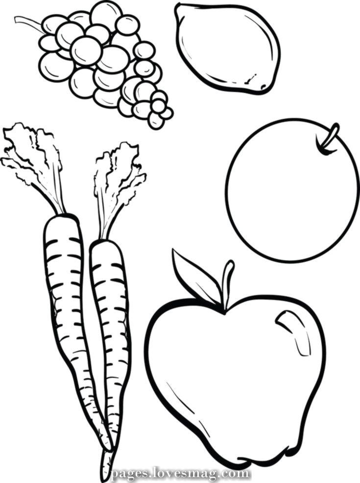 Breathtaking Coloring Web Page Of Vegetables And Fruit Fruit Coloring Pages Vegetable Coloring Pages Vegetable Crafts