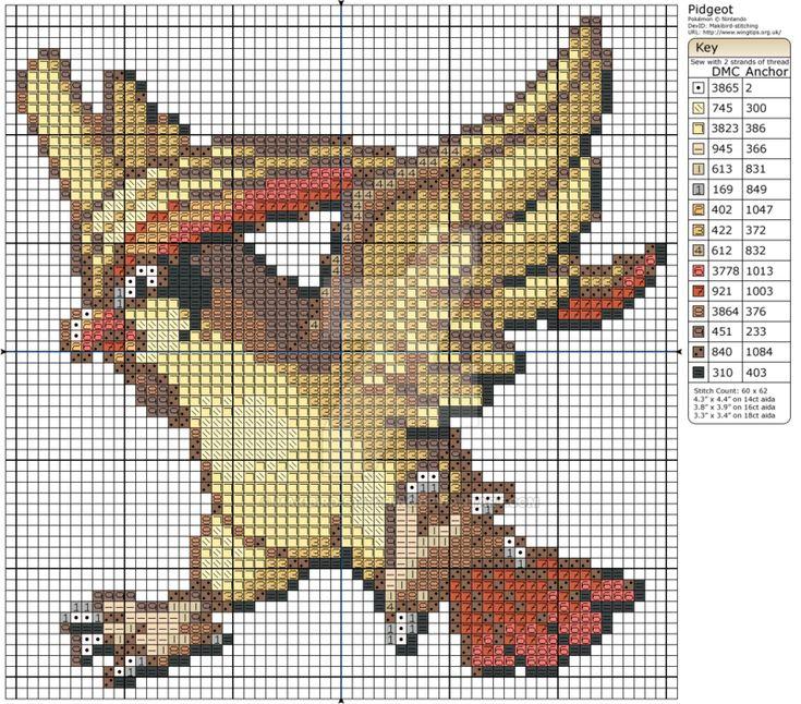 Pokemon - Pidgeot by Makibird-Stitching.deviantart.com on @DeviantArt