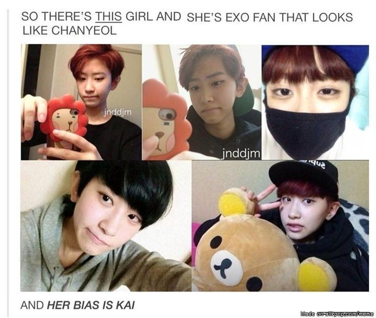 THIS GIRL IS SECRETLY CHANYEOL,i swear!!! | allkpop Meme Center