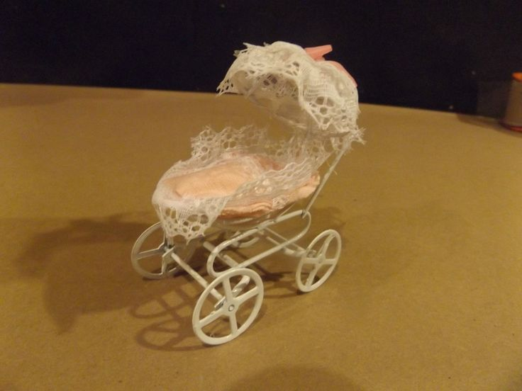 """HELLO DOLLY"" MINIATURE BABY CARRIAGE - PINK - WITH BOX 
