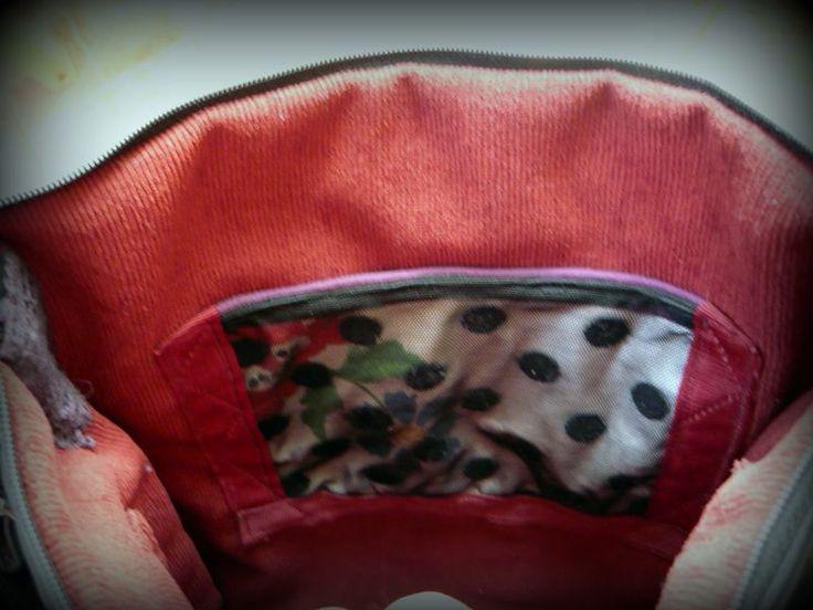 Pöttyös hímzett táska -Handmade by Judy Majoros