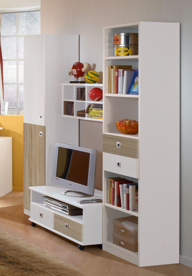 Wohnwand Alpinweiss/ Eiche Sägerau Woody 132-00664 Holz modern Jetzt bestellen unter: https://moebel.ladendirekt.de/wohnzimmer/schraenke/wohnwaende/?uid=9e6212c8-7a09-562c-8b52-3e843b2a4d5b&utm_source=pinterest&utm_medium=pin&utm_campaign=boards