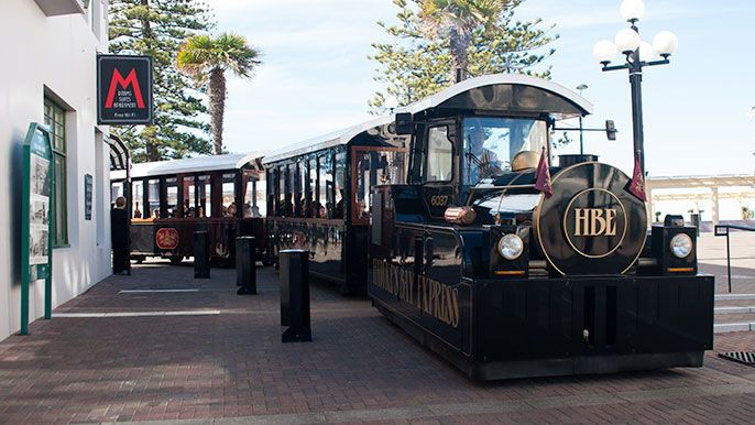 Welcome to your Hawke's Bay Express Experience of Sunny Napier! Get aboard for excursions, city tours, children's tours, weddings, private hire.