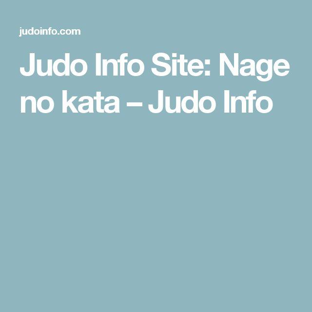 Judo Info Site: Nage no kata – Judo Info