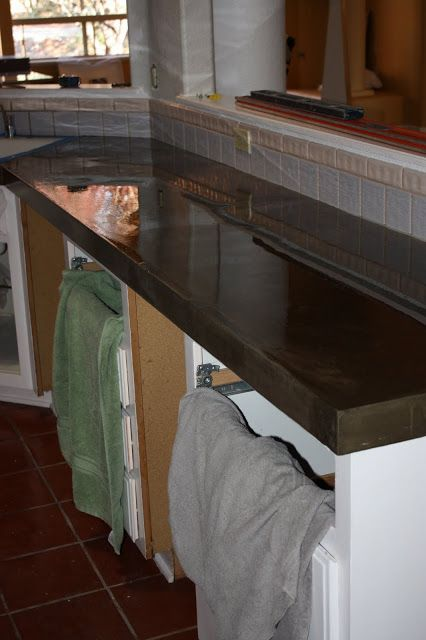 Quick install of concrete countertops kitchen remodel diy concrete renting and to share - Diy redo kitchen countertops ...