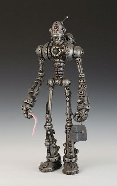 kevin reaves automated humanity in polymer clay and metal: Obsolete