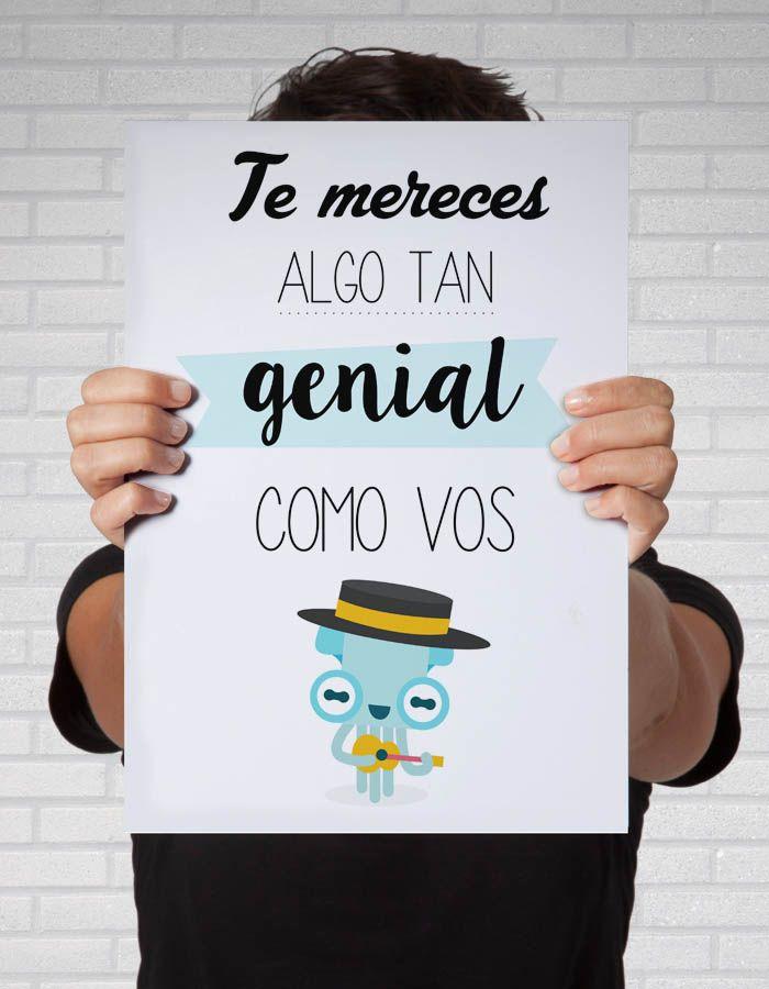 #Cuadros para el dia del amigo!  http://auradiseno.com/producto/te-mereces-algo-tan-genial-como-vos/