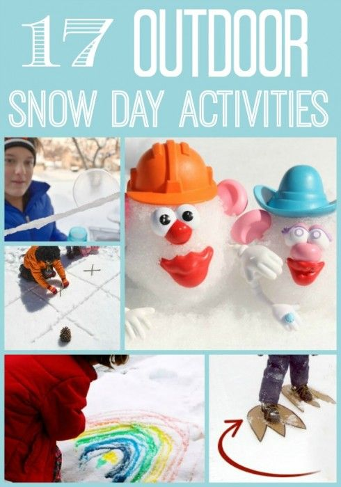 We all know that that SNOW DAY will come. Love or hate the Snow Day off school or work, here are some great ideas to get you and the kids OUTDOORS during snowdays!