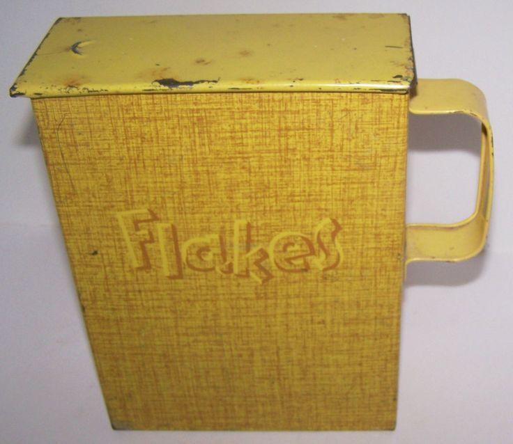 Vintage Tin Metal Laundry Detergent Suds Flakes Soap Box