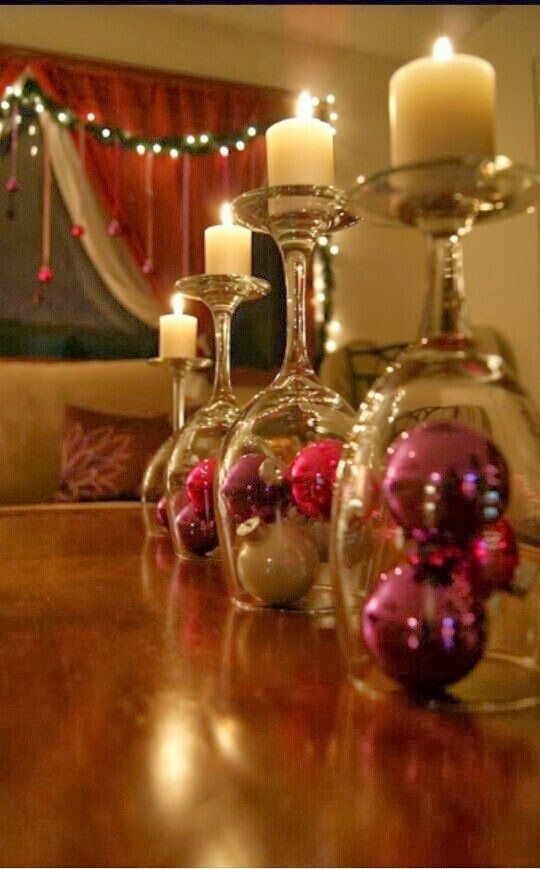 DIY Wineglass Centerpiece