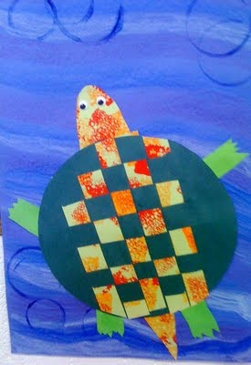 sea turtle craft - weave it