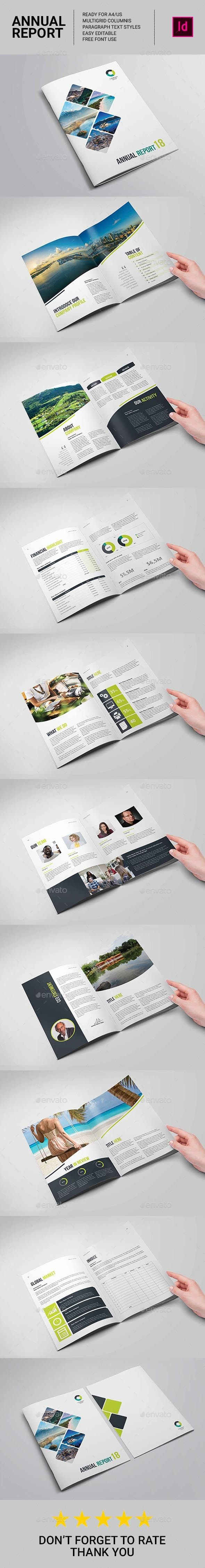 Annual Report and Company Profile TemplateThe Annual Report template is perfect for the publication of professional annual reports. Contains financial details with graphics for visual results.FILES INCLUDEDAdobe InDesign for CS4, CS5, CS6, CC, CC2015 and abo