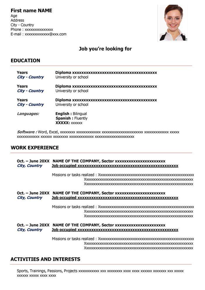 Curriculum En Ingles Para Descargar Word Gratis Cv English Modelos De Curriculum Vitae Curriculum Vitae Ejemplos De Curriculum Vitae