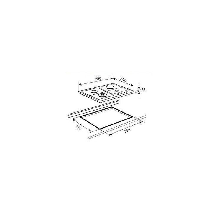 Plita Gaz Incorporabila TEKA EH 60 4G AI AL TR CI Beige cu Aprindere electrica integrata în buton - Iak