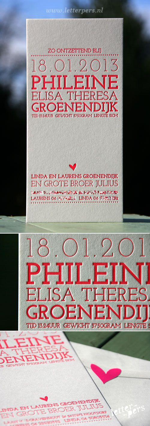 letterpers_letterpress_geboortekaartje_phileine_neon_roze